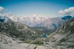 Vue sur le Lago d'Arpy et le Massif du Mont-Blanc (23 août 2020)