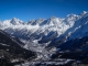 Vallée de Chamonix avec l'Aiguille Verte, des Grands Charmoz, de Blaitière, du Midi, le Mont Blanc du Tacul et le Mont Maudit (23 février 2014)