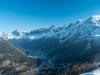 Vue sur la Vallée de Chamonix (20 décembre 2015)