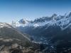 Panorama sur le Massif des Fiz et la Chaine du Mont-Blanc (20 décembre 2015)
