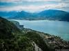 Vue sur le Lac d'Annecy et le Semnoz