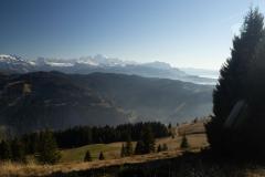Vue sur le Massif du Mont-Blanc (18 novembre 2018)