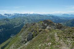 L'on peut notamment observer le Massif du Mont-Blanc sur toute sa longueur (1er août 2019)