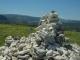 Cairn matérialisant le vrai sommet du Mont d'Or à 1463 m (31 mai 2019)