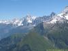 Vue sur l'Aiguille Verte et du Midi