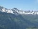 Col d'Enclave, Mont Tondu à gauche, et Mont Pourri enneigé au fond