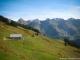 Vue sur la Pointe de Tardevant, la Tête de Paccaly, la Roche Perfia et la Tête Pelouse depuis le Col de Châtillon