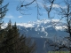 Panorama à la descente sur le Massif du Mont-Blanc