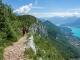 Le chemin se poursuit sur ce balcon vers le Mont Baron avec toujours cette magnifique vue sur le Lac d'Annecy (24 juin 2018)