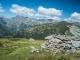 Abri à l'arrivée avec vue sur l'Aiguille de Loriaz (9 septembre 2016)