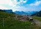Vue sur les Dents de Lanfon depuis le Chalet Chappuis