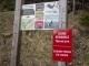 Panneau d'information sur la faune locale (12 mai 2019)