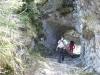 Passage dans la roche