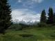 Replat avant l'ascension du Petit Croisse Baulet avec vue sur le Mont-Blanc