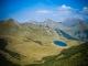 Lac du Roy avec : la Pointe du Haut Fleury, la Haute Pointe, la Pointe de Chalune et le Roc d'Enfer
