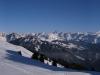 Panorama sur le Massif des Aravis à l'arrière plan et les Bornes au premier plan