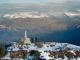 Vierge au sommet avec le Massif du Giffre en arrière plan (6 décembre 2015)