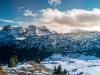 Vue sur la Pointe du Midi, la Pointe Blanche, le Jallouvre et les Rochers de Leschaux (6 décembre 2015)