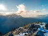 Vue sur la Montagne de Sous-Dine, la Roche Parnal et la Pointe de Sur Cou (6 décembre 2015)