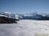 Mer de nuages l'hiver