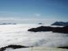 Le pic de Marcelly en haut à droite,une île au centre, le Môle (hiver)