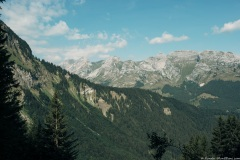 Vue sur le Massif des Bornes (21 juillet 2019)