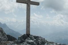 Croix au sommet de la Pointe des Arbennes (21 juillet 2019)