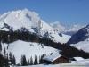 Massif du Mont-Blanc derrière l'Aiguille de Borderan