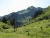 Sentier dans l'alpage d'Aufferand