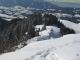 Depuis le sommet en direction du col du Martinet (22 février 2009)