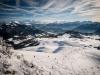 Vue sur le Massif du Mont-Blanc, les Aravis et les Bornes (22 janvier 2016)