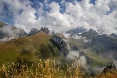 Vue sur le Col de la Case d'Oche et la Pointe de Bénevent (15 septembre 2018)