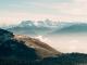 Vue sur les sommets des Aravis, dont notamment la Pointe Percée (3 novembre 2018)