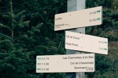 Panneau au Col de Cordon (3 novembre 2018)