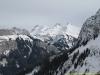 Le massif des Bornes, avec le Jallouvre, la Pointe Blanche, et la Pointe de Balafrasse (27 février 2010)