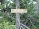 Panneaux indiquant le Sentier Pernet (13 novembre 2005)