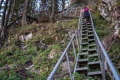 Escalier métallique avant la Pointe de Tréchauffé (15 octobre 2017)