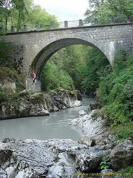 Pont du diable mieussy randos montblanc for Le miroir du diable