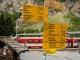 Départ à la gare de Randa où il faut suivre la direction de l'Europahütte (19 août 2017)