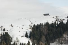 Ferme visible au loin depuis le sentier (5 janvier 2019)