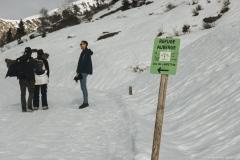 Pour rejoindre le Col de l'Arpettaz dans un second temps, suivre le panneau (5 janvier 2019)