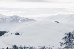 Ferme au Retorney sur fond de Beaufortain (5 janvier 2019)