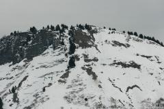 Praz Vechin vu depuis le Col de l'Arpettaz (5 janvier 2019)