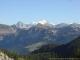 Le Mont Blanc en arrière plan