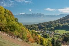 Vue sur le Mont Blanc, les Bornes et Monnetier (13 octobre 2017)