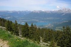 Vue sur le Lac d'Annecy depuis le sommet du Semnoz (5 juin 2014)