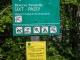 Panneau de la réserve rappelant l'interdiction de promener son chien (3 septembre 2017)