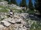 Passages rocheux à la sortie de la forêt