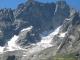 L'on peut voir que les glaciers reculent de plus en plus sous l'effet du réchauffement climatique