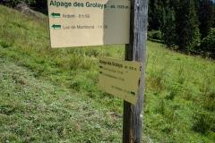 Suivre la direction du Col de l'Aup Couti (0h50) (26 aout 2018)